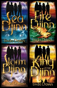 The Djinn Quartet by Linda Davies: Sea Djinn, Fire Djinn, Storm Djinn and King of the Djinn, children's magical fantasy set in Dubai