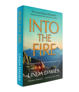 Into The Fire financial spy thriller by Linda Davies set in Peru