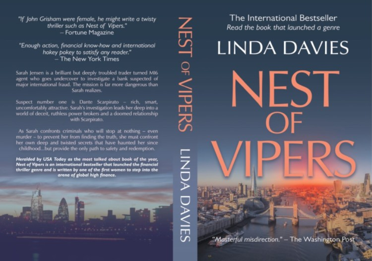 Nest of Vipers financial thriller by Linda Davies