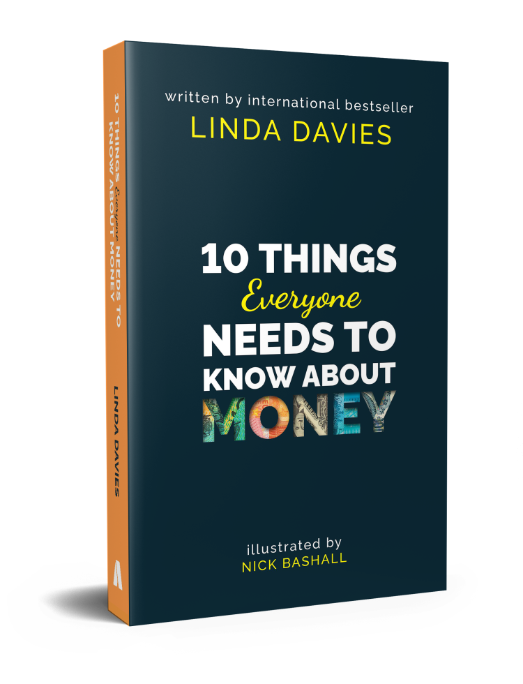 Cover of '10 Things Everyone Needs To Know About Money' by Linda Davies, illustrated by Nick Bashall - financial empowerment book